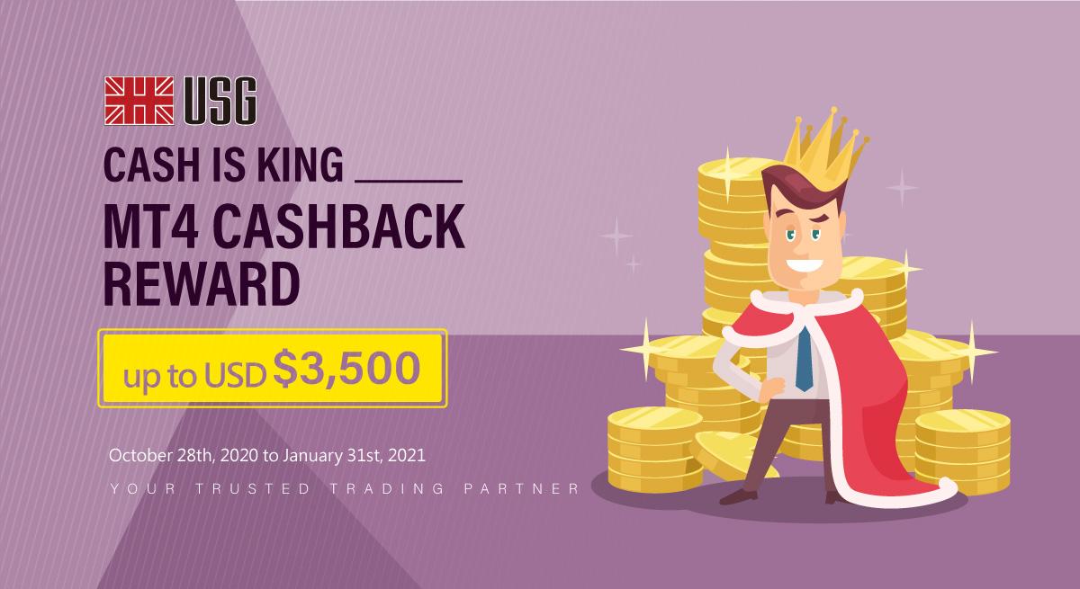 Cash Is King--MT4 Cashback Reward up to USD$3,500