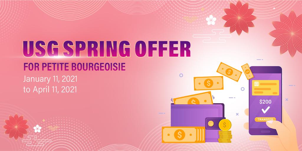 USG Spring Offer for petite bourgeoisie